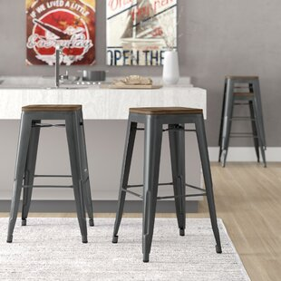 Peetz 30 Square Bar Stool (Set of 4) Trent Austin Design
