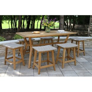 Gracie Oaks Quevedo 7 Piece Teak Dining Set