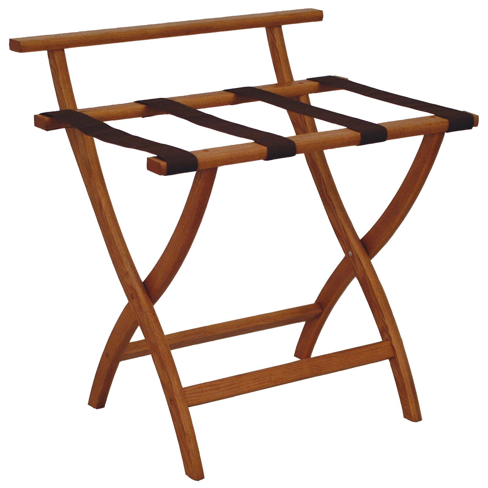 Wooden Mallet Wood Luggage Rack Reviews Wayfair