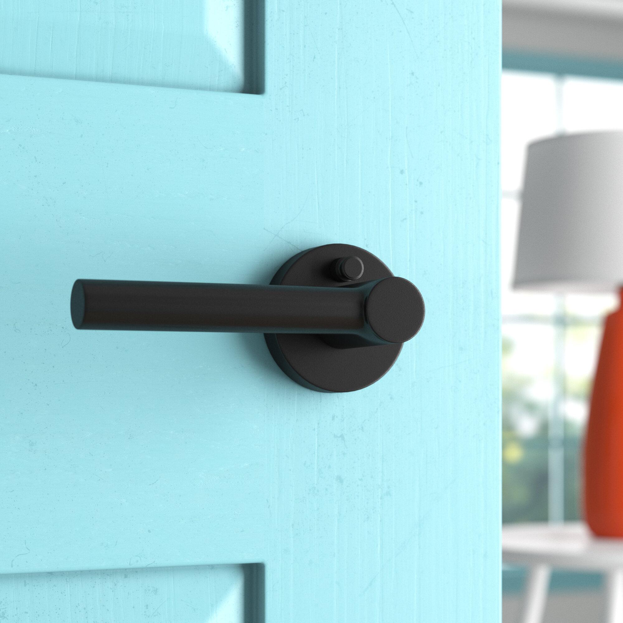 Wayfair Basics Privacy Door Lever With Round Rosette Reviews Wayfair