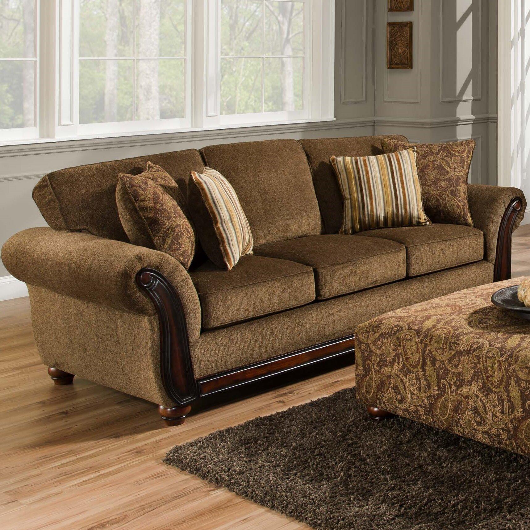 Dcor Design Fairfax 96 Rolled Arm Sofa Reviews Wayfair