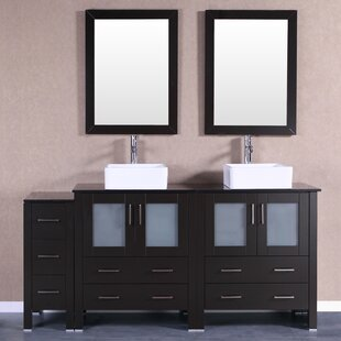 Stanton 71 Double Bathroom Vanity Set with Mirror by Bosconi