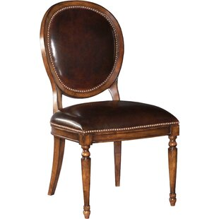 Genuine Leather Upholstered Dining Chair ..