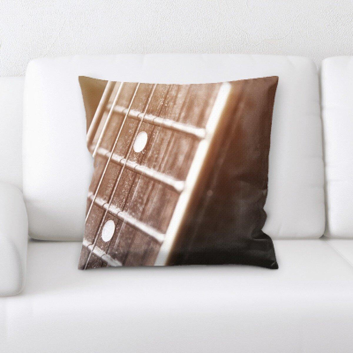 Latitude Run Jaylynn Acoustic Guitar Throw Pillow Wayfair