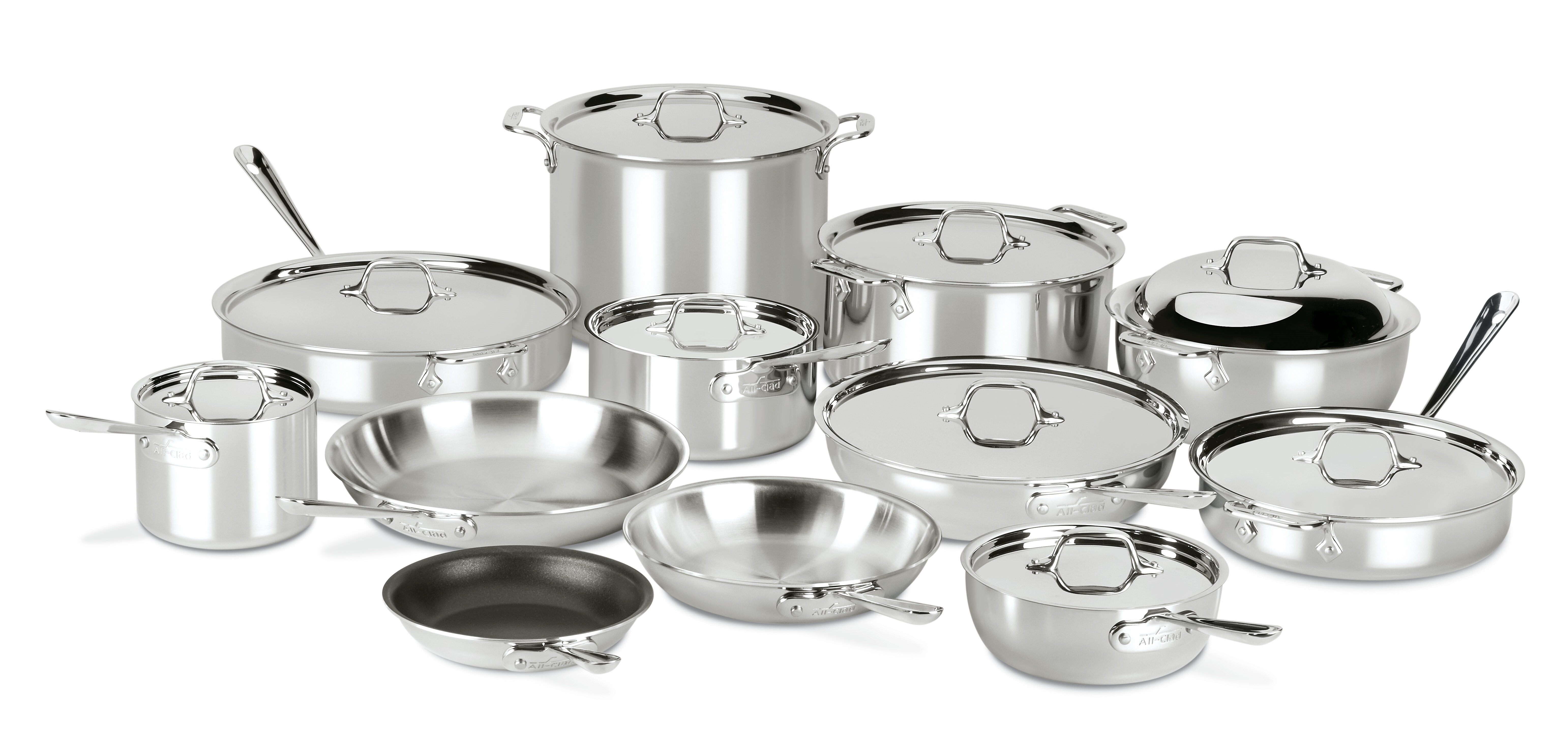 All Clad D3 Compact 21 Pieces Stainless