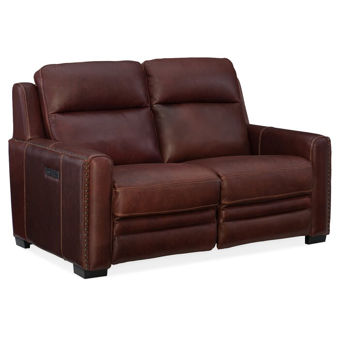Sensational Aviator Leather Reclining Loveseat Caraccident5 Cool Chair Designs And Ideas Caraccident5Info