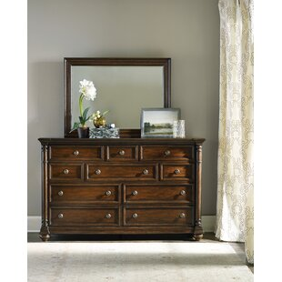 Leesburg 10 Drawer Dresser with Mirror
