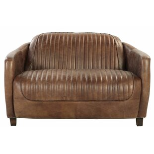 Regina Leather Loveseat by 17 Stories