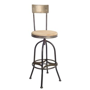 Harless Adjustable Height Bar Stool Williston Forge