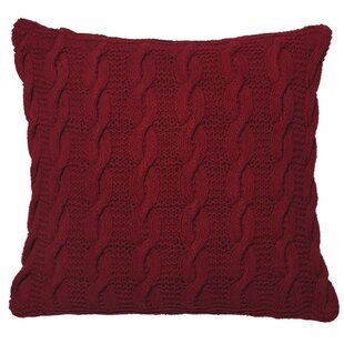 Pitchford Cable Cotton Throw Pillow