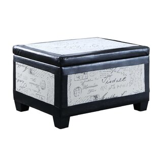 Quaniece Accent Trim Storage Wood Ottoman by Red Barrel Studio