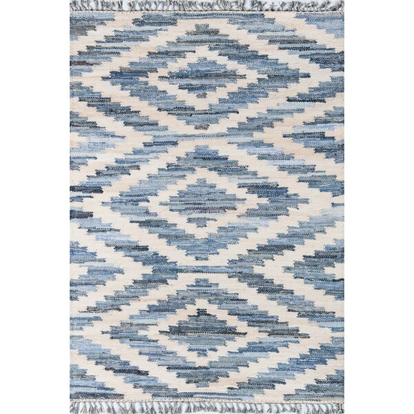 California Laguna Handwoven Flatweave Cotton Blue Area Rug Reviews Allmodern