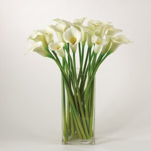 Faux Botanicals White Calla Lily (Set of 12)