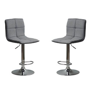 Mancini Adjustable Height Bar Stool (Set of 2) Brayden Studio