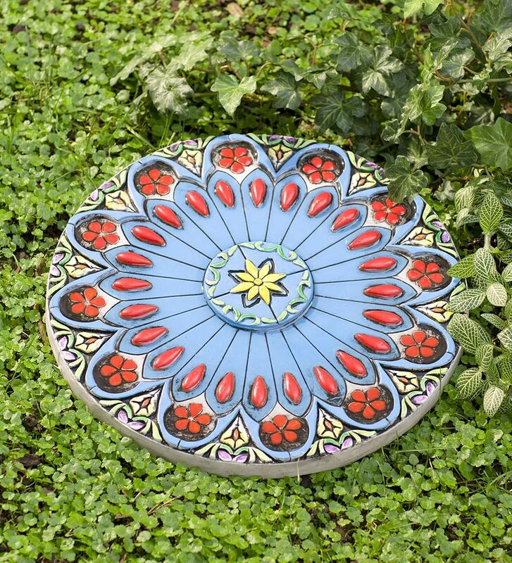 Colorful Flower Garden Stepping Stone