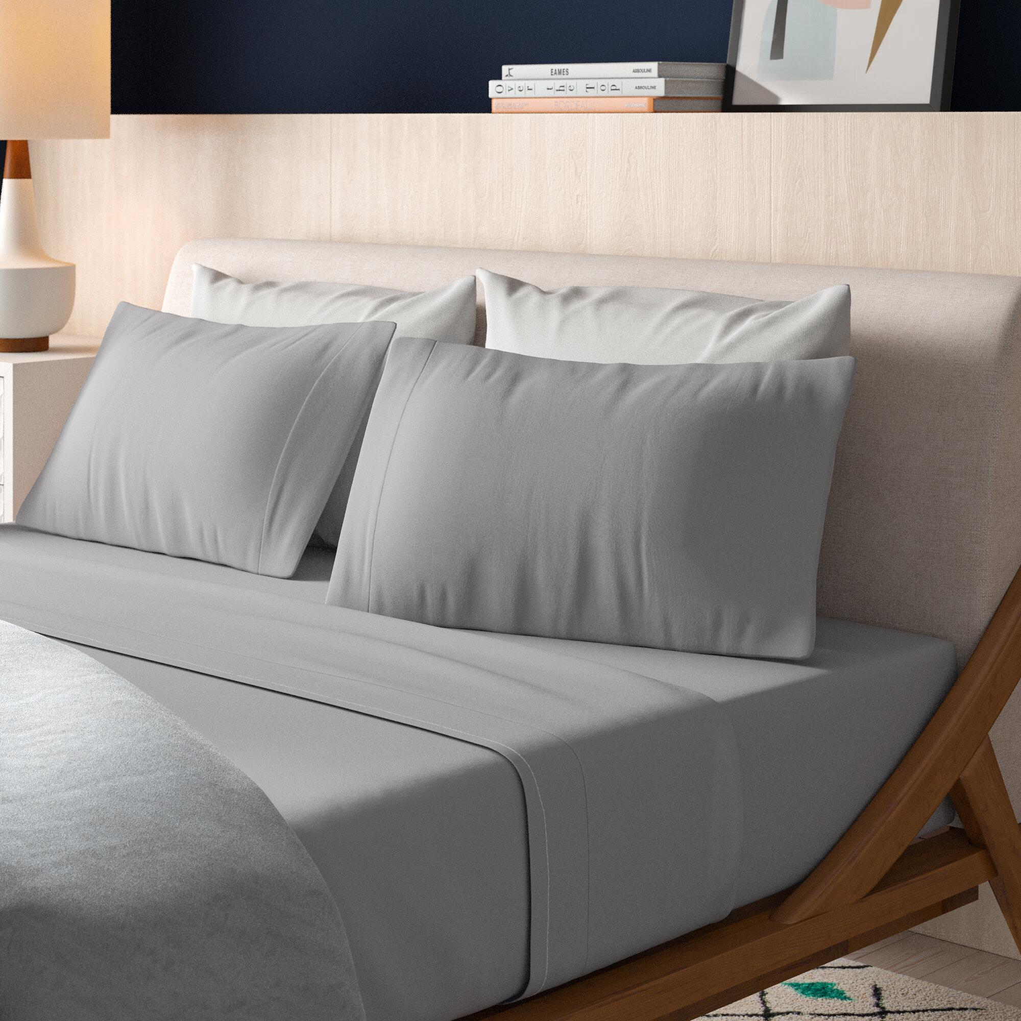 Percale 400 Thread Count 100 Cotton Sheet Set Reviews Allmodern