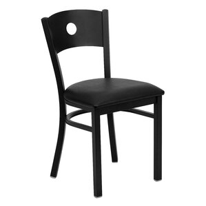 Hera Circle Circle Back Side Chair by Latitude Run