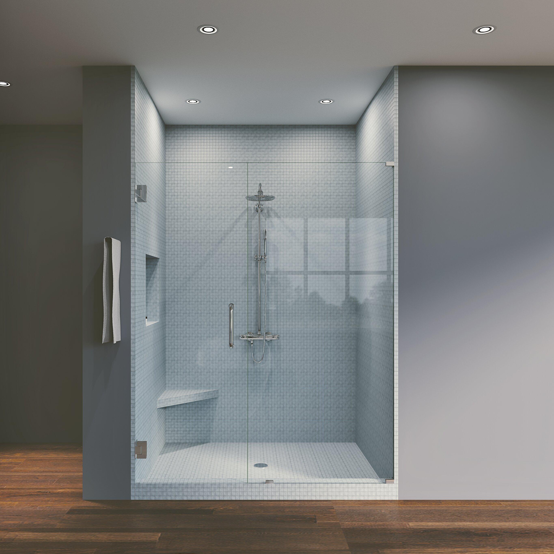 45 25 X 80 Hinged Frameless Shower Door