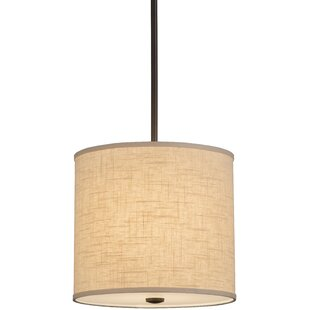 Meyda Tiffany Greenbriar Oak Cilindro Beige Textrene 1-Light Pendant