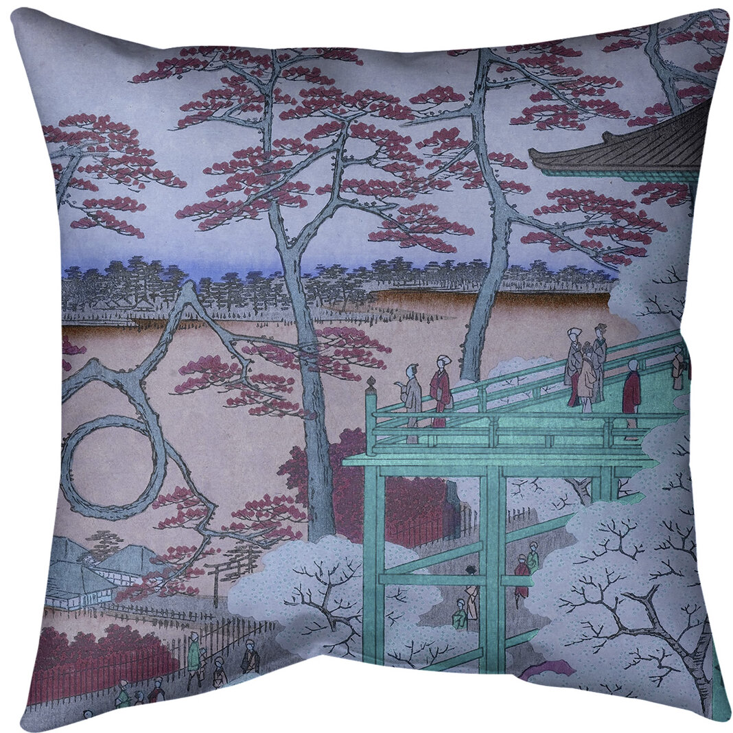East Urban Home Kiyomizu Hall And Shinobazu Pond At Ueno Throw Pillow Cover Wayfair