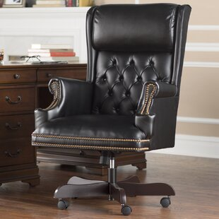 Darby Home Co Brassie Leather Executive Chair