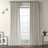 Livia Solid Room Darkening Thermal Rod Pocket Single Curtain Panel