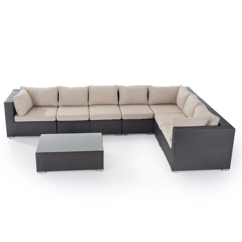 Caracella Grande 7 Seater Rattan Corner Sofa Set & Reviews   Wayfair ...