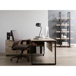 Albin Executive Desk with Bookcase