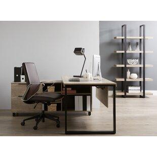 Albin Executive Desk with Bookcase