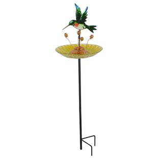 Peaktop Outdoor Dragonfly Fusion Glass Decorative Bird Feeder (Set of 6)