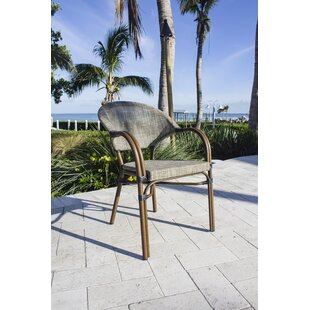 Arianna Stacking Patio Dining Chair by Bay Isle Home