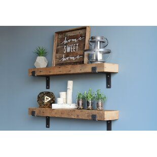 Buckelew Made Chunky Reclaimed Barn Wood 2 Piece Wall Shelf Set (Set of 2)