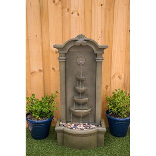 Wildon Home ® Resin Santiago Floor Fountain with Light