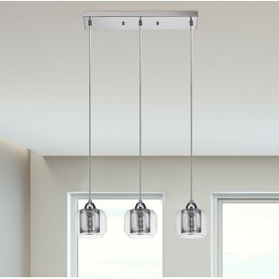 Kitchen island lighting youll love wayfair pirton 3 light kitchen island pendant aloadofball Gallery