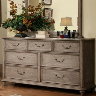 Floria 7 Drawer Dresser with Mirror