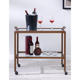 Haun Metal Bar Cart by Wrought Studio