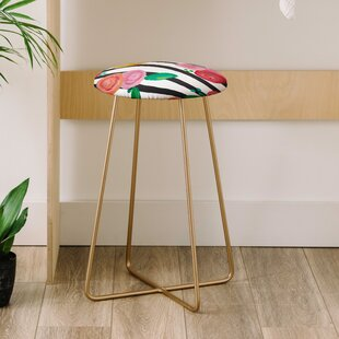 Natalie Baca Stripes and Blooms 25 Bar Stool East Urban Home