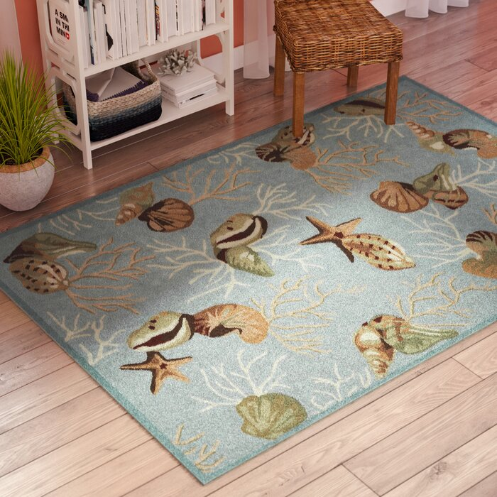 Chamberlin Coral Reef Blue Area Rug
