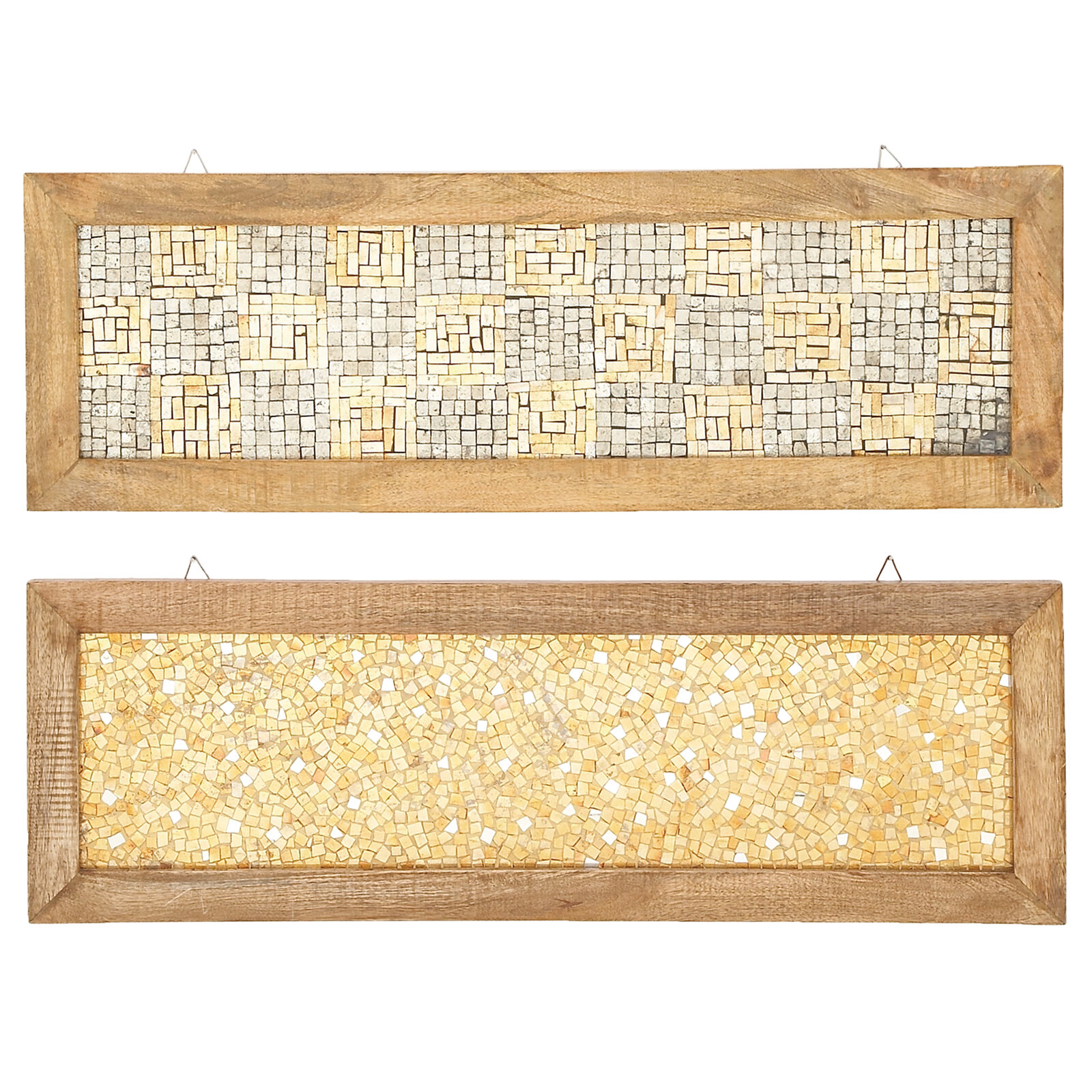 Urban Designs 2 Piece Cracked Mosaic Wooden Frame Wall Décor Set ...