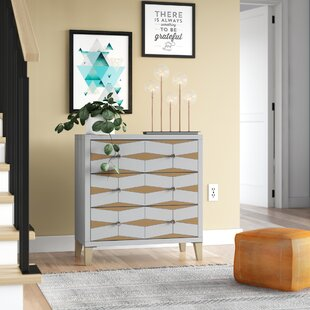 Palombo Mirror 3 Drawer Accent Chest by Wrought Studio