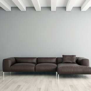 Velia Leather Sectional by Orren Ellis Spacial Price