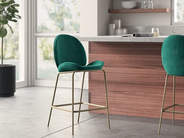Superb Modern Barstools Counter Stools Allmodern Caraccident5 Cool Chair Designs And Ideas Caraccident5Info