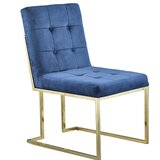 Jacob Upholstered Parsons Chair in Blue by Mercer41