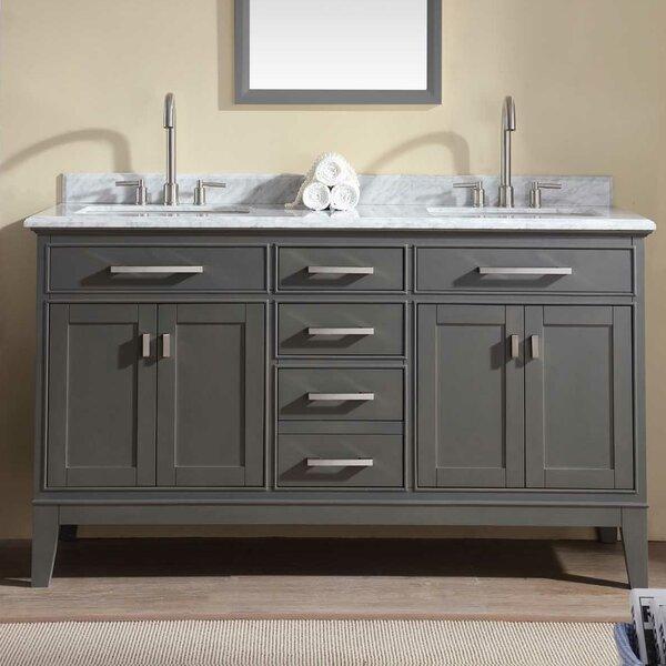 modern contemporary 60 inch vanity top double sink allmodern rh allmodern com bathroom vanity 60 single sink bathroom vanity 60 inches double sink