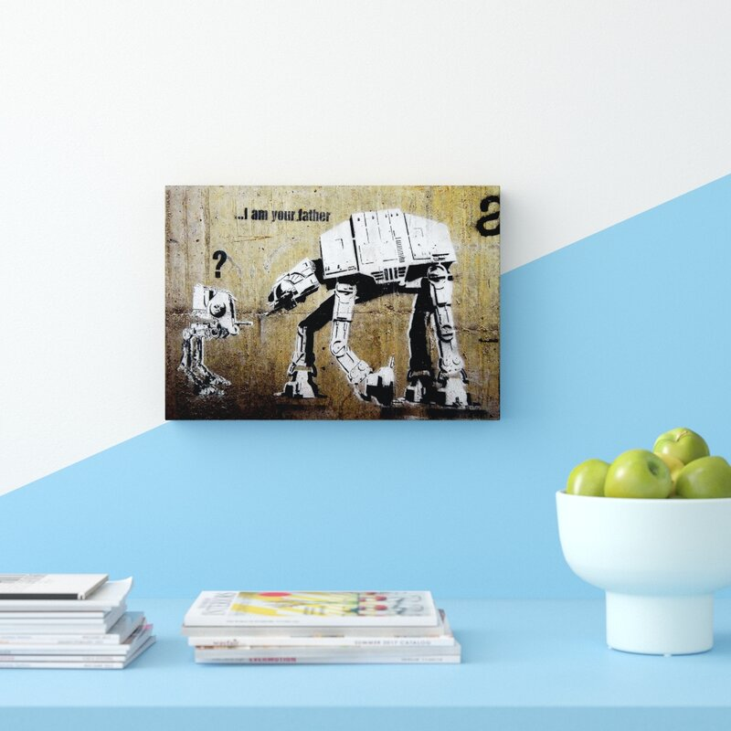 East Urban Home Atat I Am Your Father Banksy Graphic Art Print On Wrapped Canvas