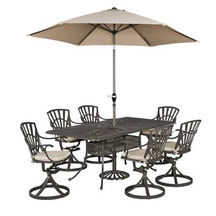 Astoria Grand Frontenac 9 Piece Dining Set with Cushions
