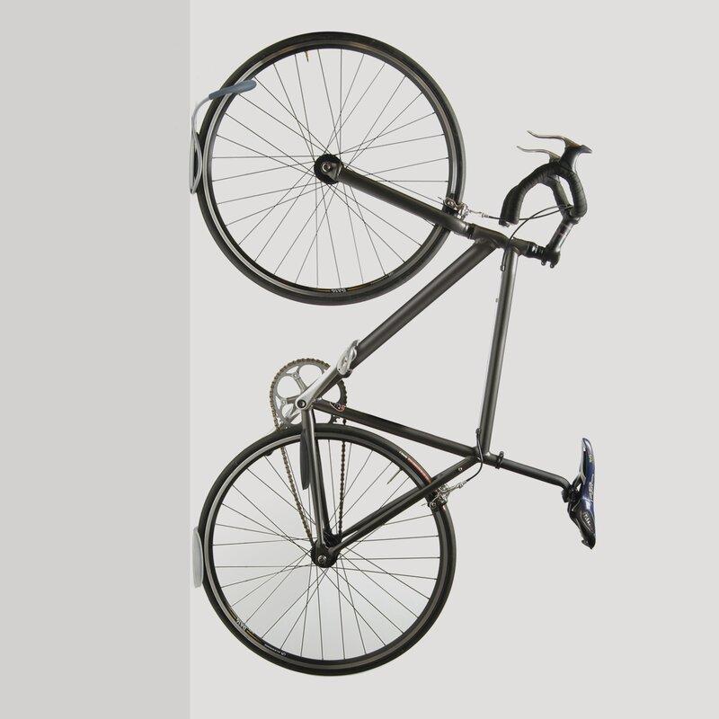 Delta Leonardo Wall Storage Rack Holds One Bike-Silver-Bike Storage Hook