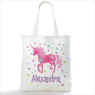 Pretty Unicorn Personalized Picnic Tote Bag