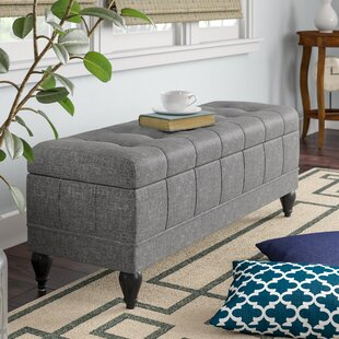 Unique Upholstered Storage Bench by Charlton Home