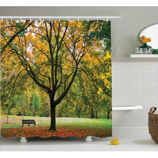 Clovis Bench Under The Tree Decor Single Shower Curtain